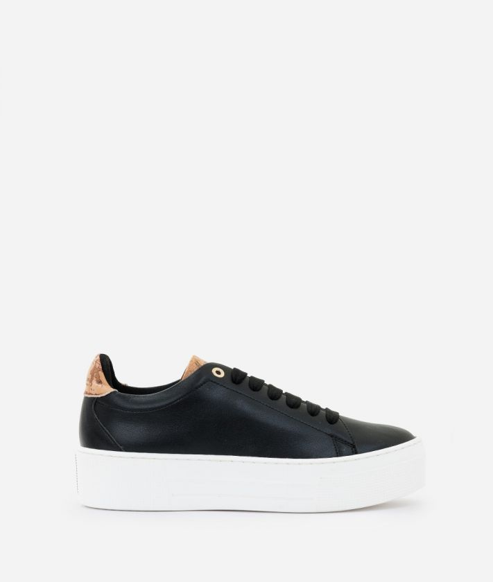 Sneaker in smooth eco-leather Black