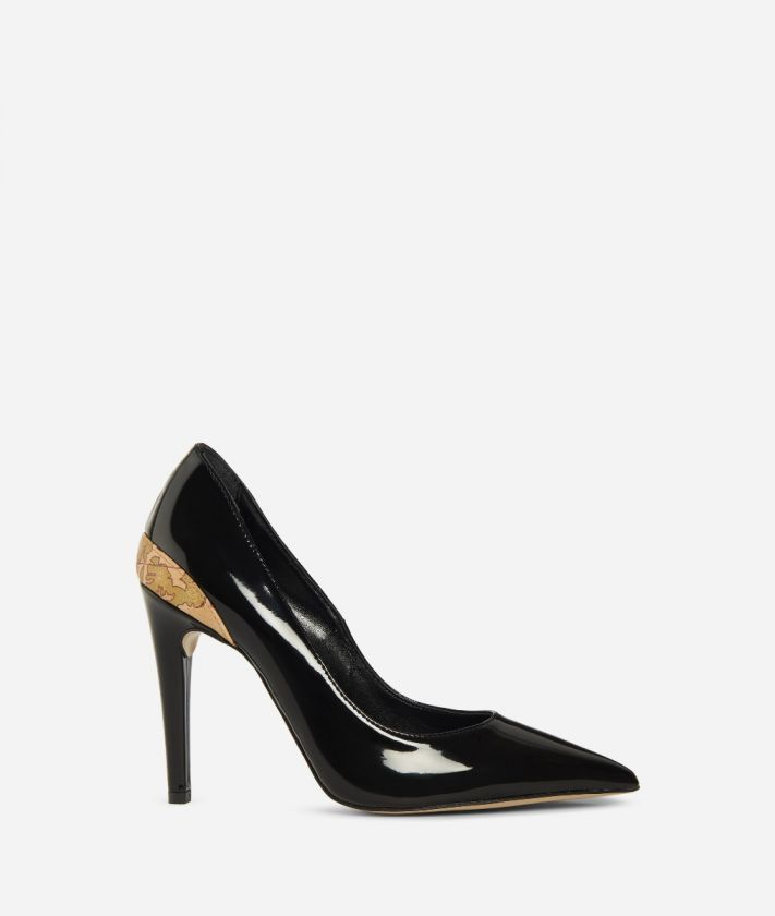 Pumps in eco-patent fabric Black