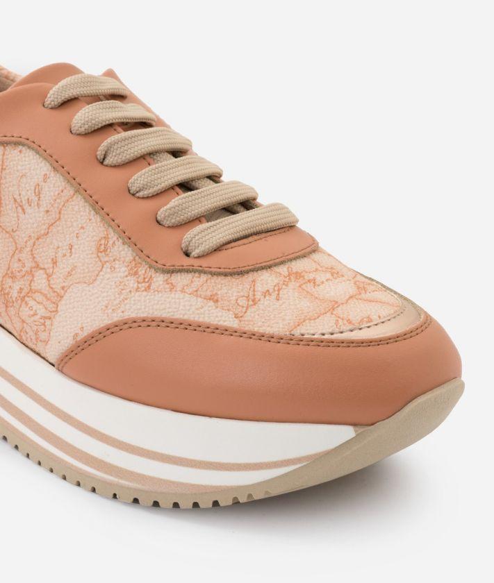 Sneaker in tessuto stampa Geo Pesca
