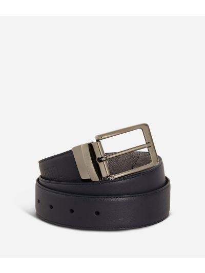 Men's belt leather blue