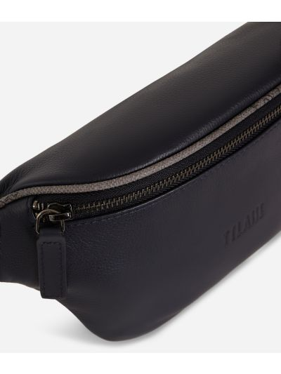 Belt bag in pelle blu
