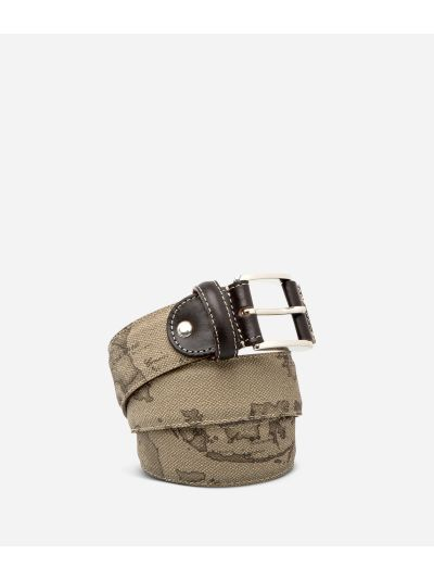 Geo Tortora Belt with logo buckle