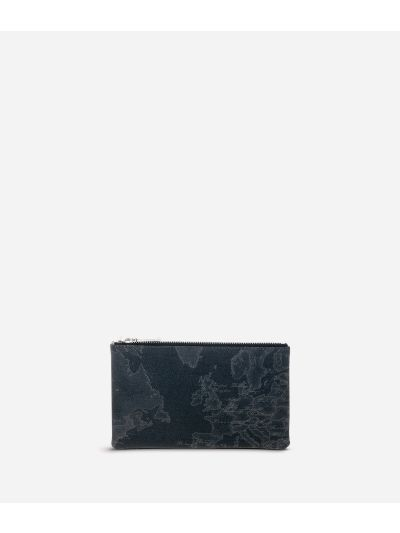 Geo Black Medium rectangular pouch