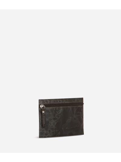 Geo Soft Black Pochette grande con zip