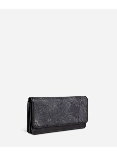 Geo Black Large wallet with pocket
