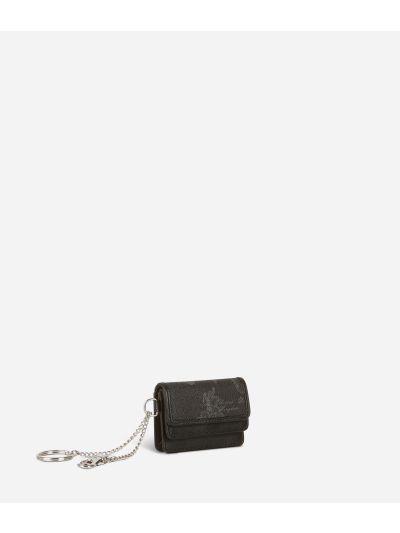 Geo Black Key ring pouch
