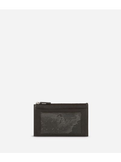 Geo Black Card holder with key ring