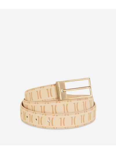 Monogram Woman Belt Cream