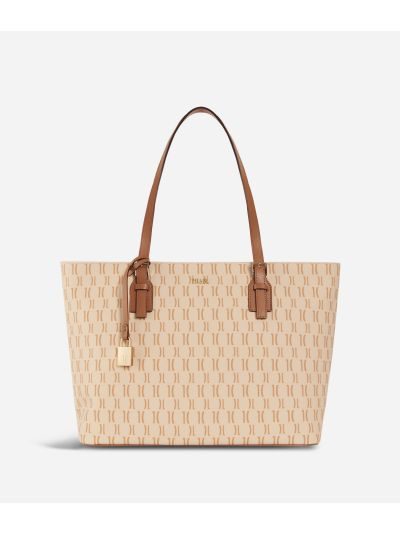 Monogram Big Shopping Bag Cream
