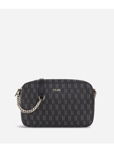 Monogram Report Crossbody Bag Black
