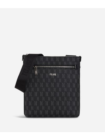 Monogram Flat Crossbody Bag Black