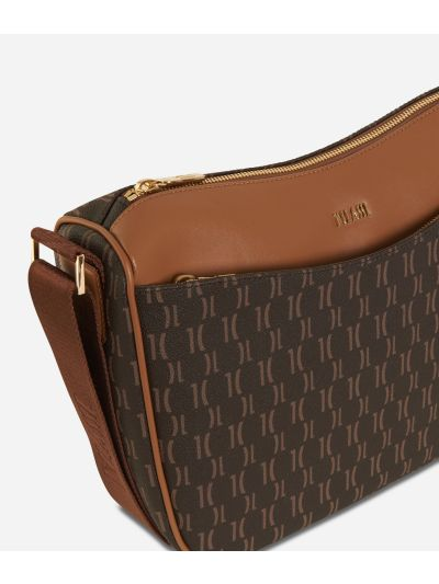 Monogram Half-moon Bag Dark Buff