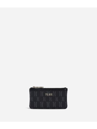 Monogram Small pouch with keyring Black