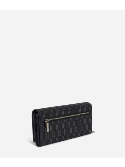 Monogram Woman Wallet Black