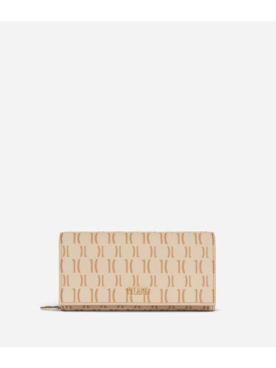 Monogram Woman Wallet Cream