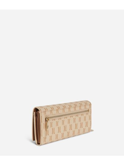 Monogram Woman Wallet Cream