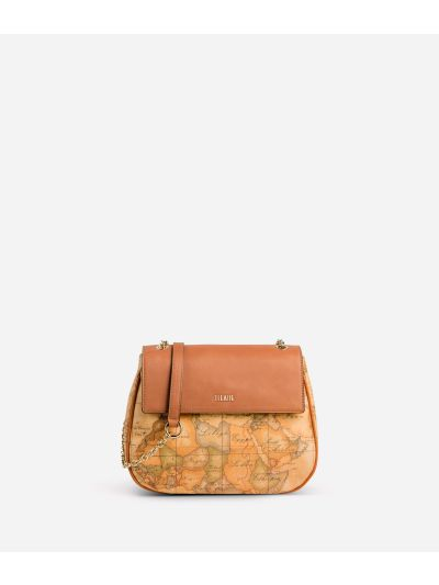 Geo Classic Mini bag with leather flap