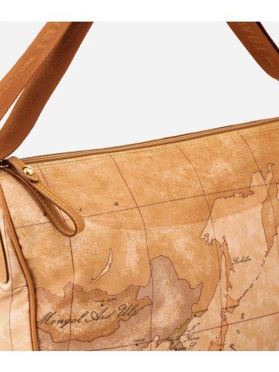 Geo Soft Medium half-moon handbag