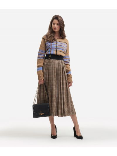 Pleated skirt with Galles print