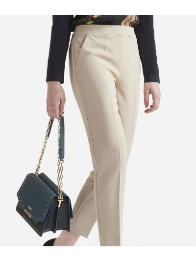 Cavallery stretch basic trousersColor: White