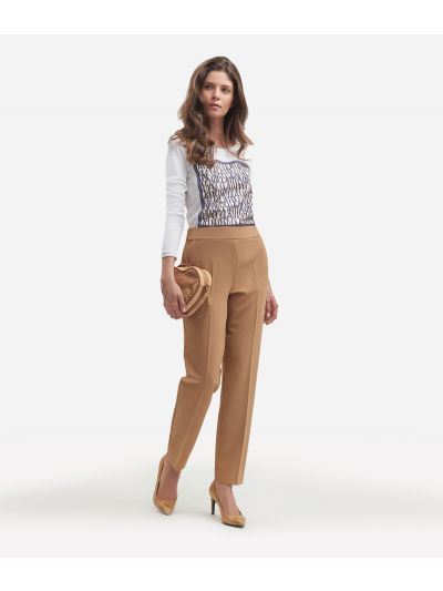 Cavallery stretch basic trousersColor: Beige