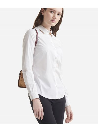 Poplin cotton shirt White