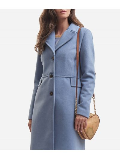 Velour basic coat Light Blue