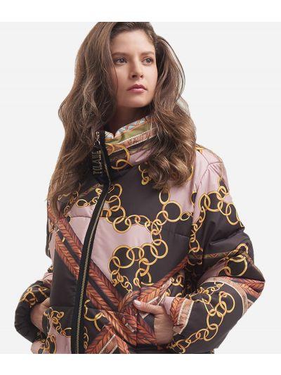 Oversize nylon padded jacket Black