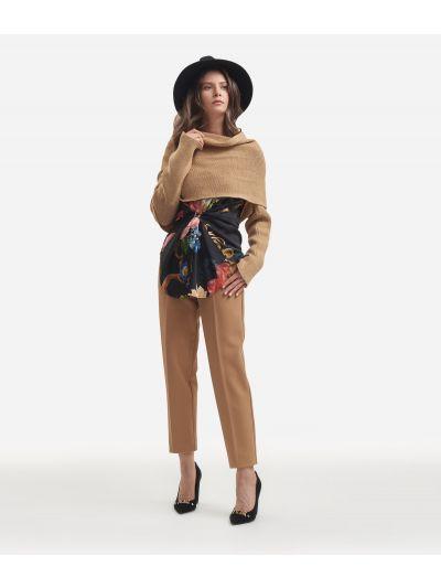 Knit shawl Beige