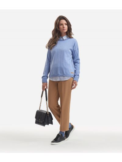 Wool blend sweater Light Blue