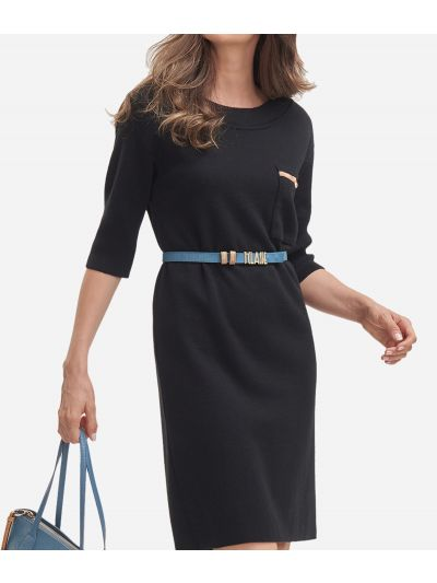 Wool blend dress Black