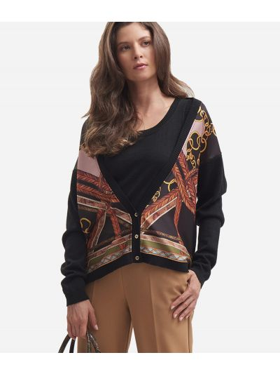 Wool blend sweater Black
