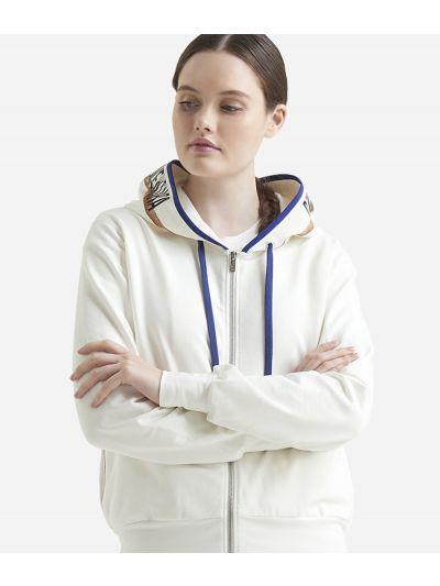 Basic sweatshirt with zip White