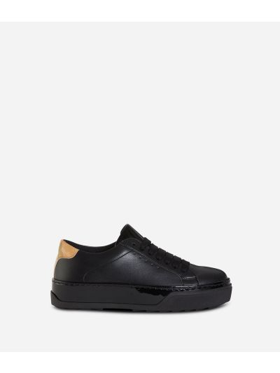 Donnavventura leather sneakers Black