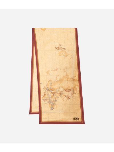 Geo Classic print foulard 45 x 180 Bordeaux