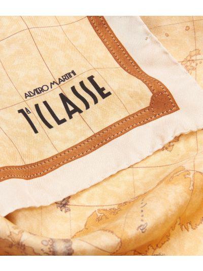 Geo Classic print foulard 50 x 50 Beige