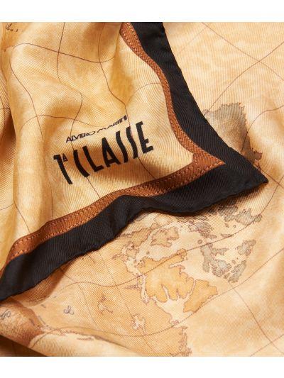 Geo Classic print foulard 70 x 70 Black