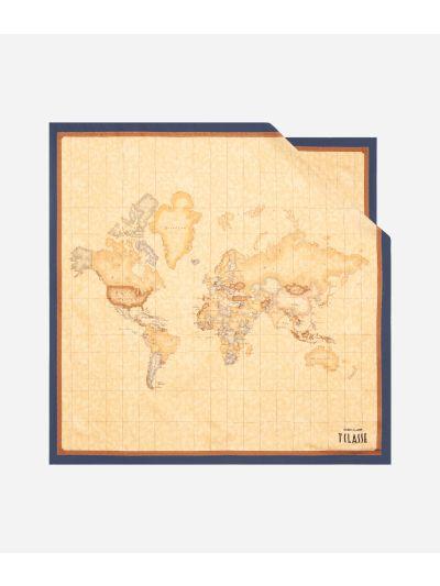 Geo Classic print foulard 70 x 70 Blue
