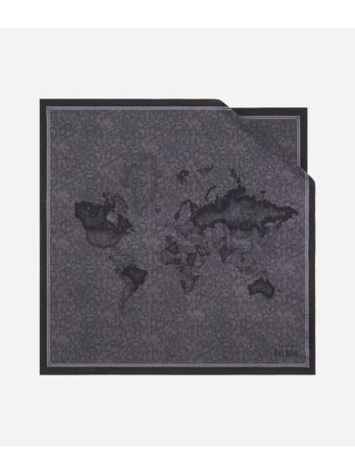 Geo Color print foulard 70 x 70 Grey