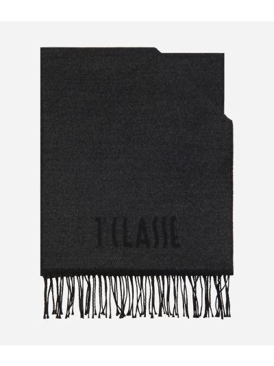 Plain Colour 1AClasse logo scarf38 x 180 Grey