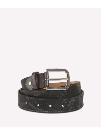 Geo Silver Night Belt Black