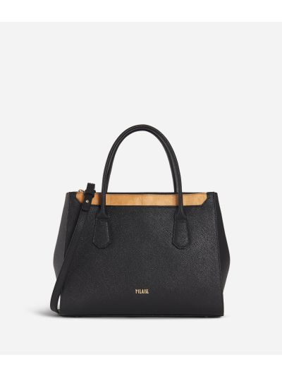 Sky City Medium handbag Black and Geo Classic Black