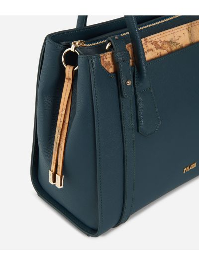 Sky City Medium Handbag Teal