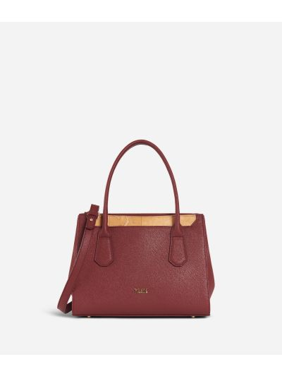 Sky City Small Handbag Geo Bordeaux Cabernet
