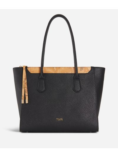 Sky City Shopping Bag Black and Geo Classic Black