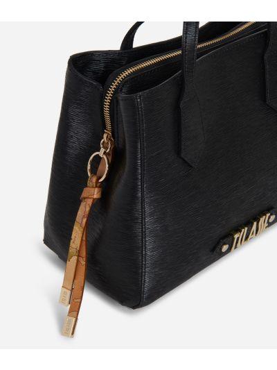 Winter Smile Small Handbag Black