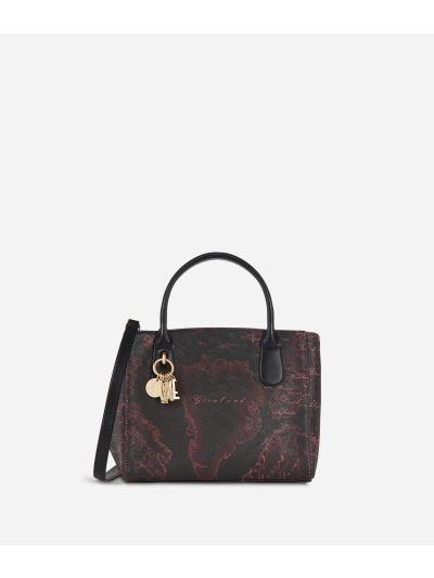 Geo Rosewood Small Handbag Cabernet