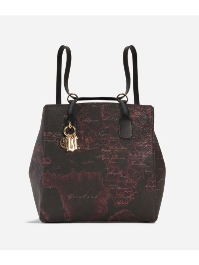 Geo Rosewood Backpack Cabernet