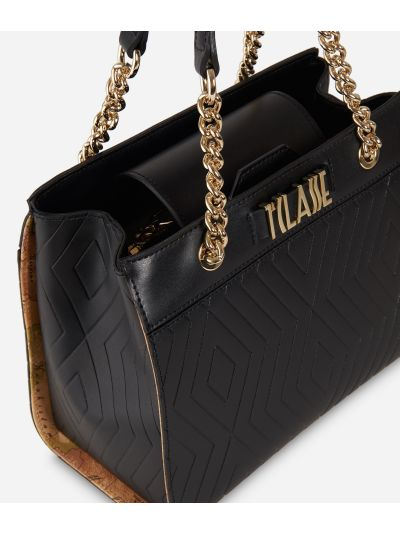 Starlight Line Small Handbag Black