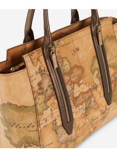 Autumn Geo Shopping bag Bronze
